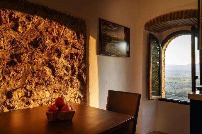 Appartamento-Giolli Sala con vista in Borgo-sul-Clitunno Umbria