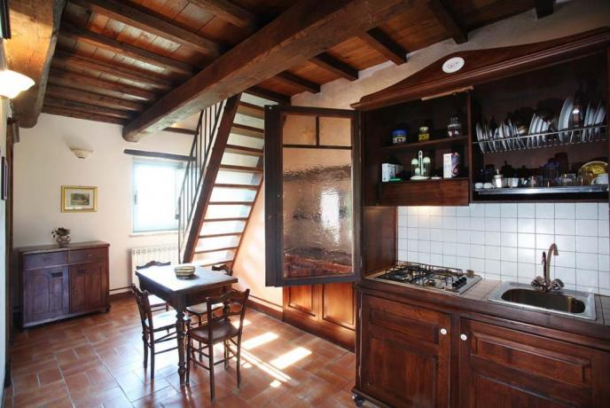 Camere a due piani con salotto angolo cottura