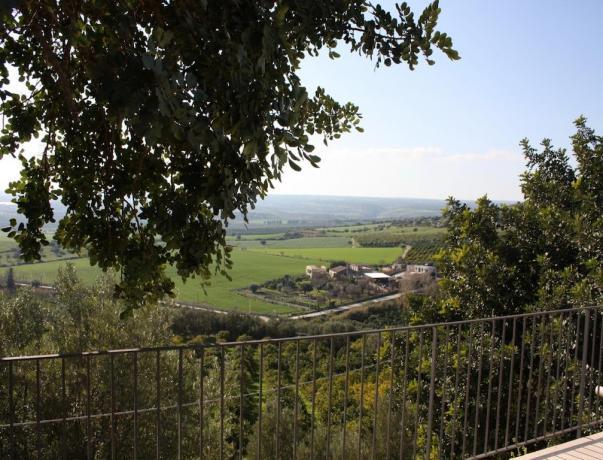 Vista panoramica dalla terrazza dell'albergo a Noto