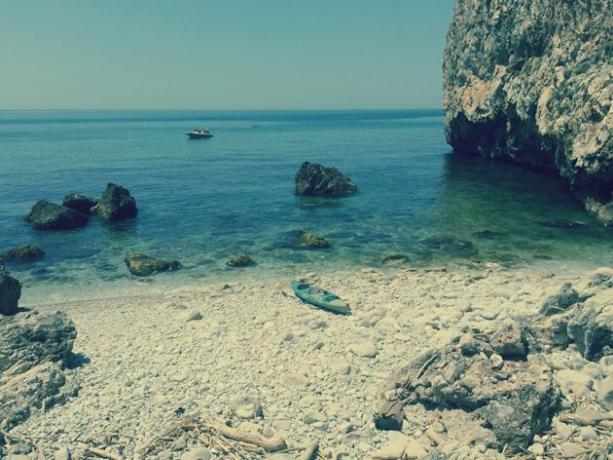 Vista mare e spiaggia nel Lazio