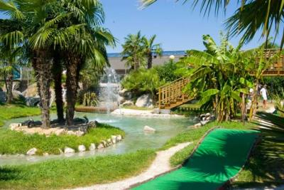 Minigolf Area at the Aqualandia Waterpark
