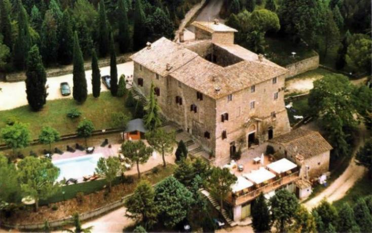 Aerial view of the Castello Medioevale