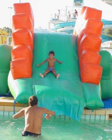 Waterslides for small children in Riccione