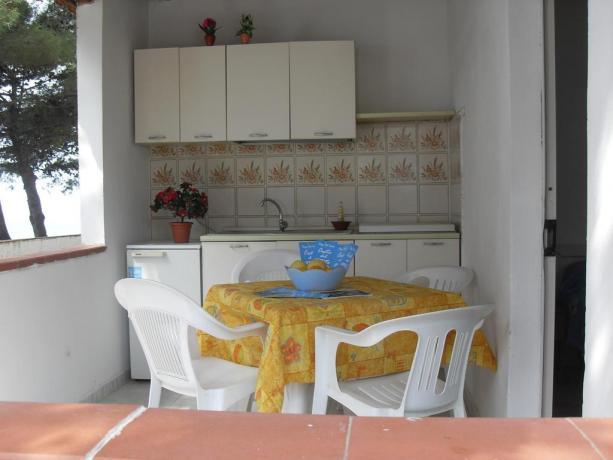 Bungalow con cucina, in villaggio Turistico