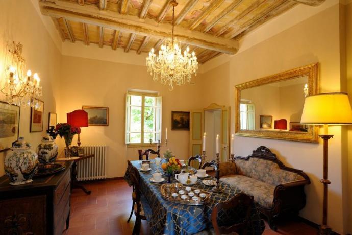 Sala comune villa esclusiva prima colazione Perugia