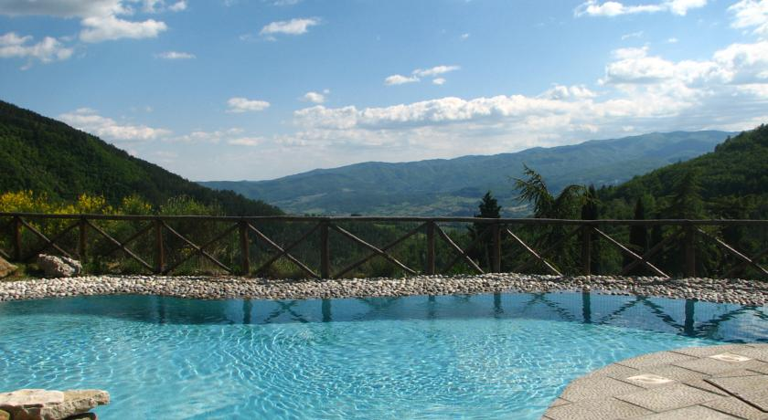 Piscina Esterna Panoramica in Toscana