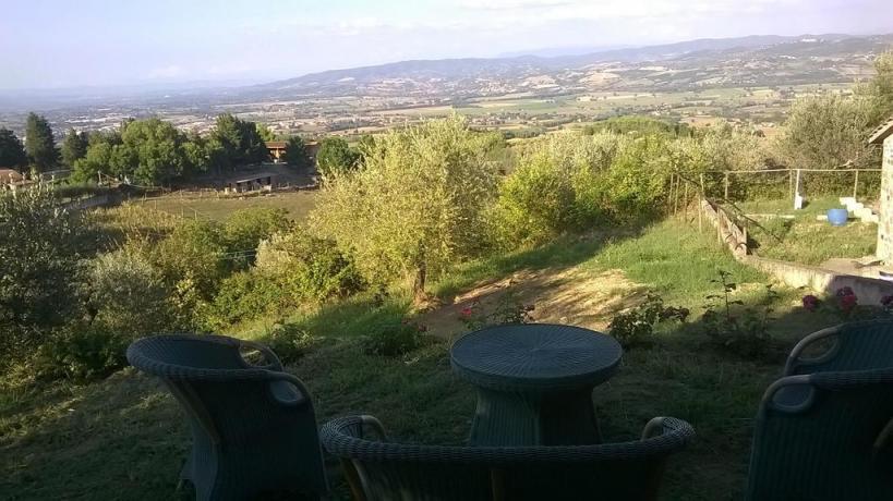 Casale Collelungo vicino Todi con vista vallata umbra