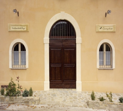 Detail of the entrance of the guesthouse