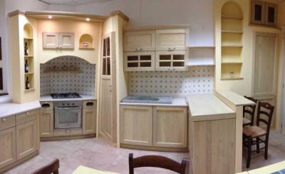 Cucina componibile ad angolo cucine legno massello produzione e vendita spello perugia - Misure cucine componibili ad angolo ...