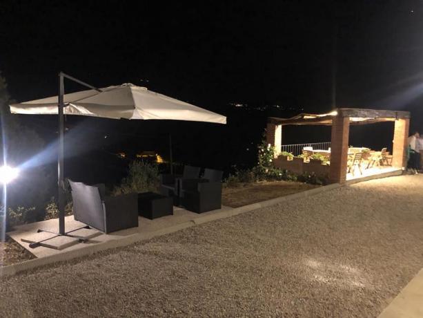 Il  nostro giardino di notte,dove rilassarsi