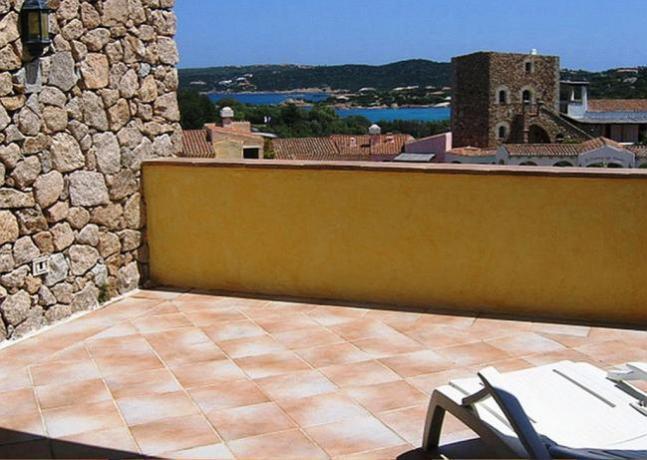 Terrazza panoramica residence vicino Porto Cervo
