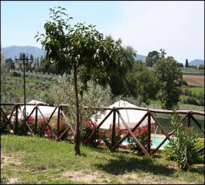 Giardino e vista piscina