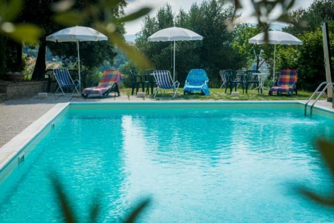 Agriturismo Lago Trasimeno: Piscina con Solarium
