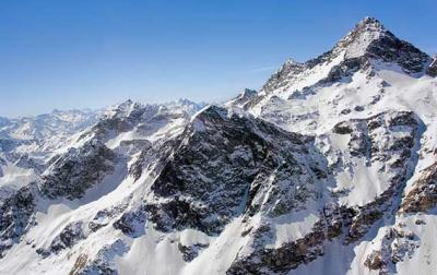 Monte Rosa, the highest mountain in Italy
