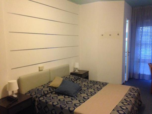 Camera matrimoniale comfort in albergo a Bibione