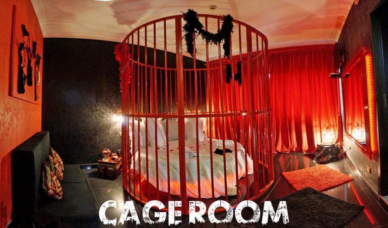 Cage room con letto tondo