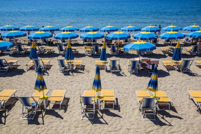 Spiaggia Privata fronte Hotel