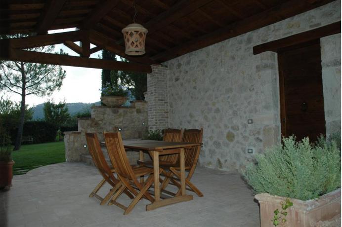Appartamento con area esterna per relax a Ferentillo