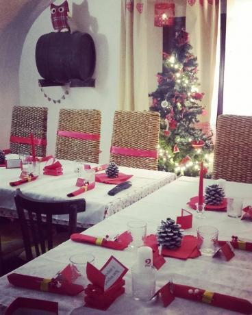 La tavola in un giorno di festa