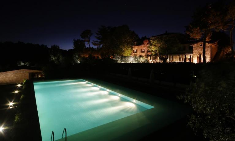 Piscina Deluxe con vista vicino Orvieto Umbria
