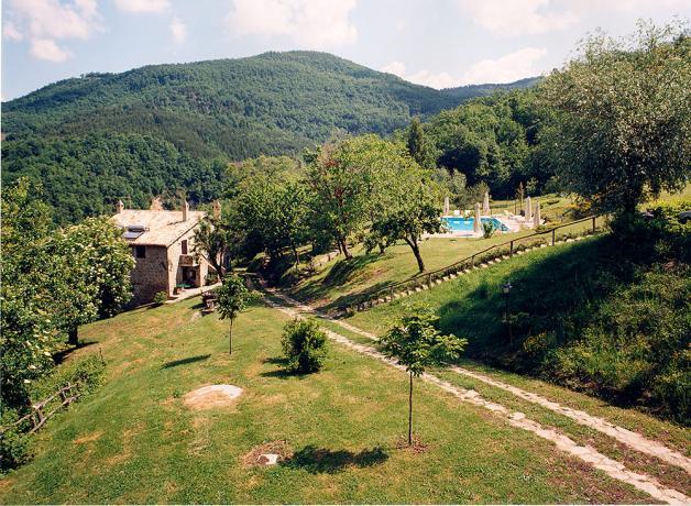 Agriturismo con Piscina vicino Assisi