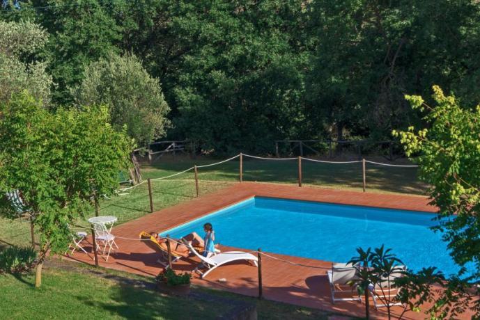 Vacanze in famiglia casale con piscina Castiglione-del-Lago