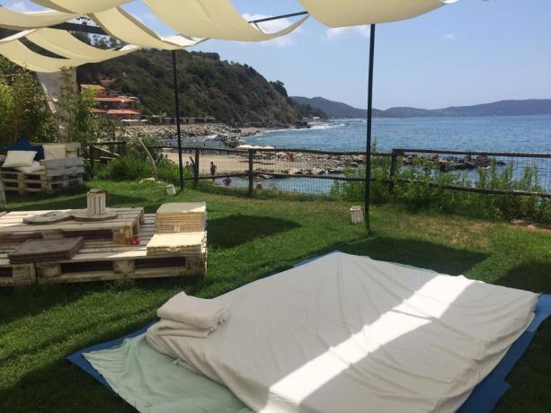 Resort a Palinuro con solarium vista panoramica