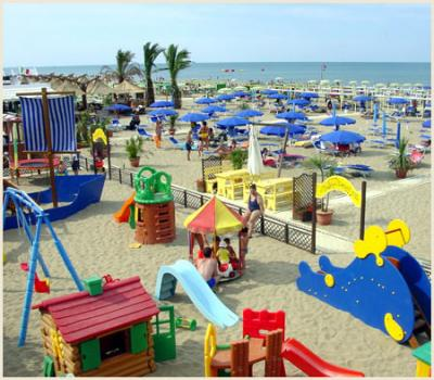 Seaside Playgrounds for children in Riccione