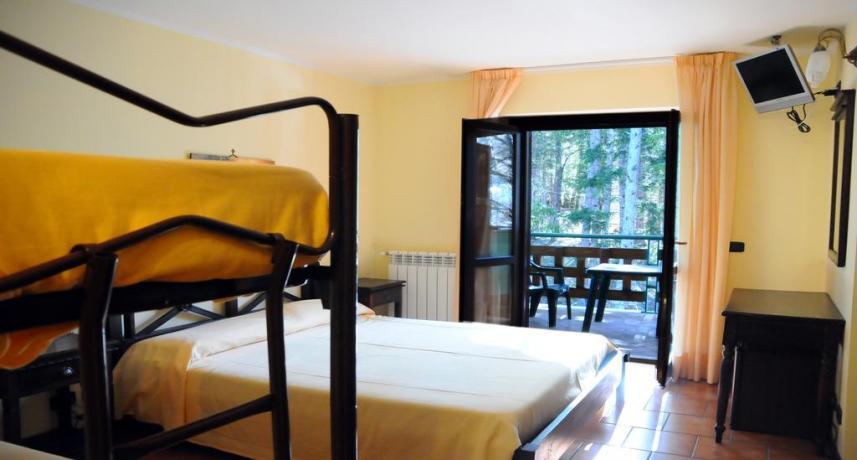 Camera quadrupla hotel vicino Roccaraso ad Alfedena