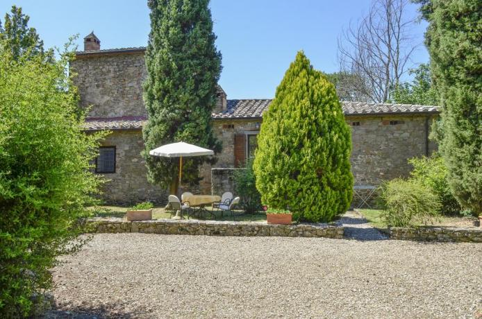 Appartamenti con camino e giardino in Toscana