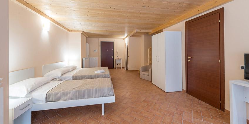 Camera Trilocale Residence Corno Piccolo, ideale per famiglia