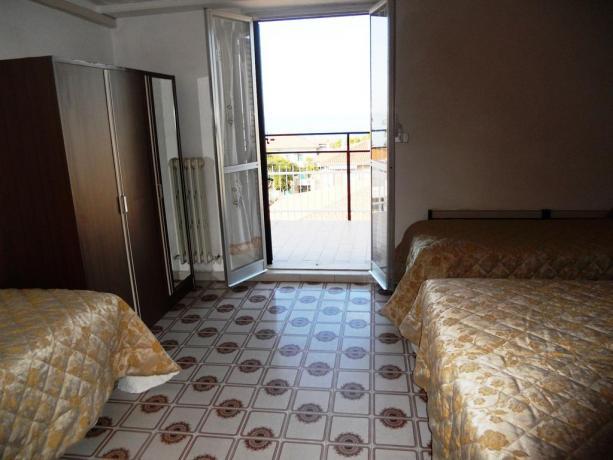 Camera Quadrupla con Balcone Hotel in Abruzzo