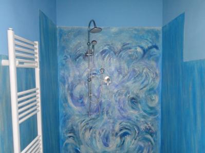 Bagno con doccia Appartamento Estate