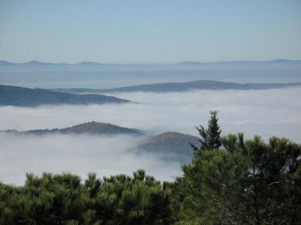 Vista panoramica del paesaggio umbro
