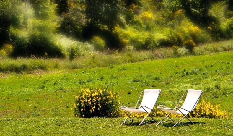 possibilità di relax all'aria aperta
