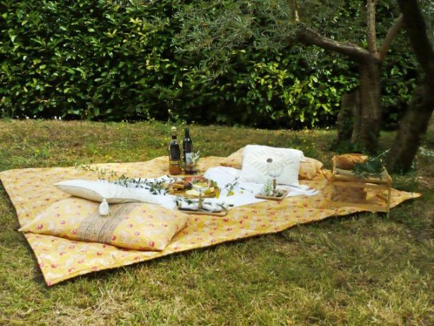 Pic-nic giardino Casale vicino Orvieto