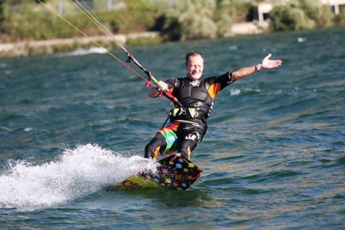 kite surf sul lago di Piediluco