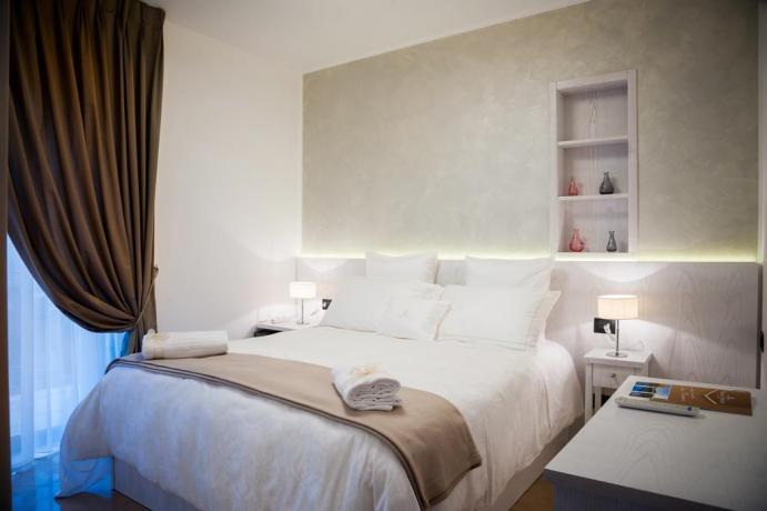Camera matrimoniale dell'albergo nel Cilento