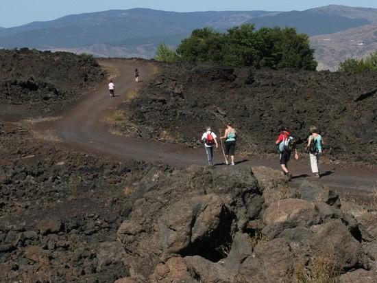 Trekking escursionistico sull'Etna