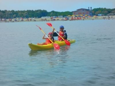 Canoeing in Torre Pedrera, Rimini holiday and sport