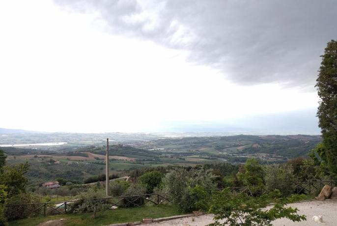 residence a Perugia con panorama colline Umbre