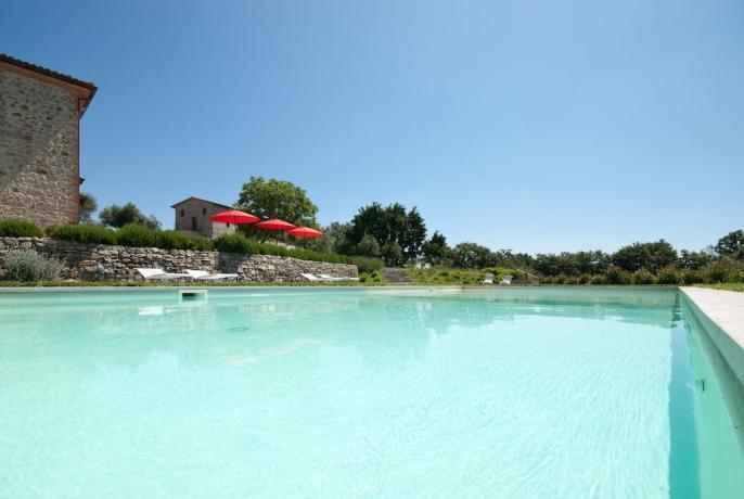 Grande piscina immersa nel verde
