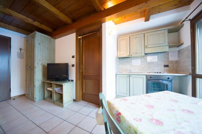 Appartamento monolocale 2-3 persone con canali sky