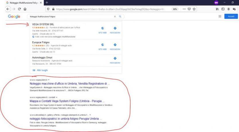 Esempio concreto: pubblicita in internet e web marketing