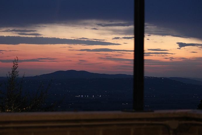 Romantico Tramonto al Castello vicino a Spoleto