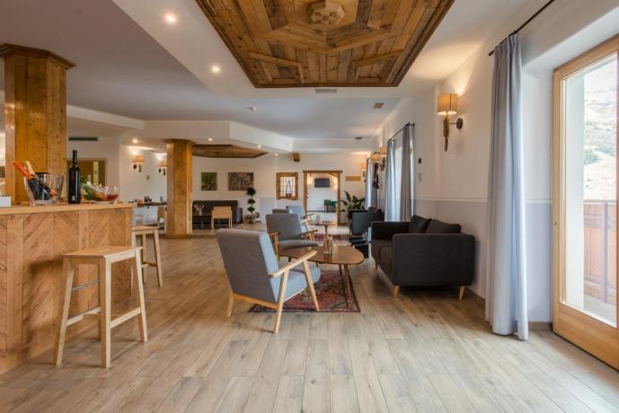 Hall dell'Hotel Ristorante vicino Livigno