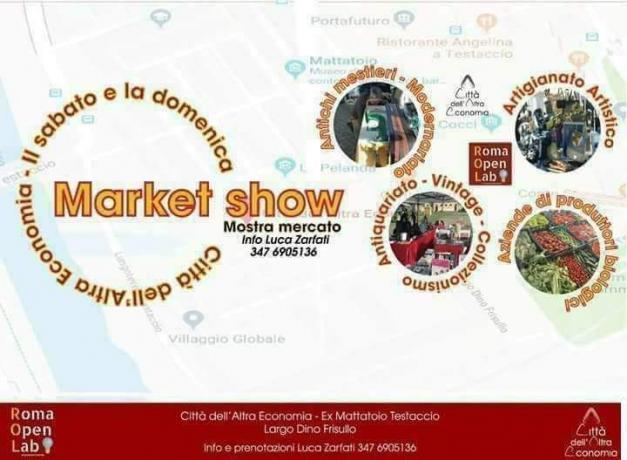 Market Show la piazza dei Creativi e Biologici a Roma