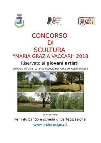 """Concorso di scultura """"Maria Grazia Vaccari"""" 2018"""
