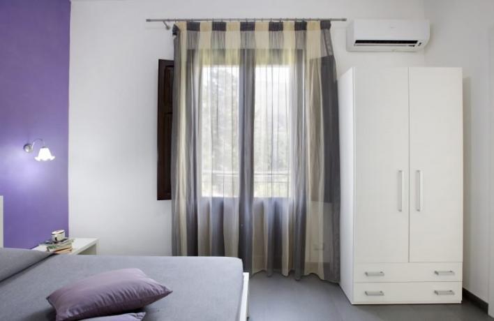 Camera matrimoniale aria condizionata appartamento San-Vito-lo-Capo