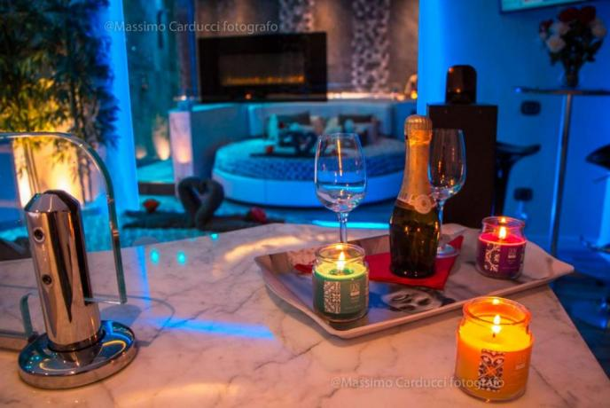 Aperitivo di benvenuto in Luxury SPA Suite